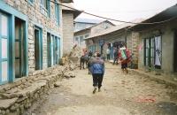 A street in Lukla Nepal