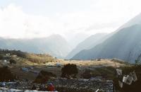 High in the Everest region