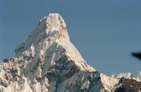 The summit and hanging glacier of Ama-Dablam Nepal