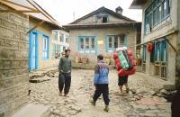 Porters in Lukla Nepal